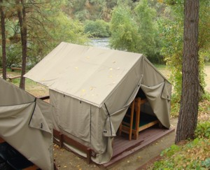 Click Here for a detailed pdf map of the Cabin Tents & Small Deluxe Cabin Tents