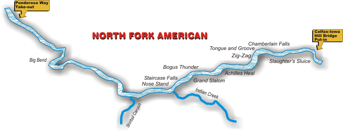 North Fork American River - Class IV+ - EarthTrek Expeditions
