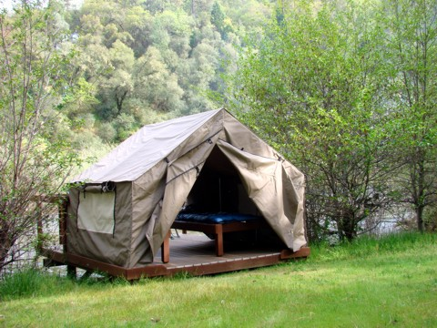 CLICK HERE for a pdf Cabin and River Tent Map & River Tents